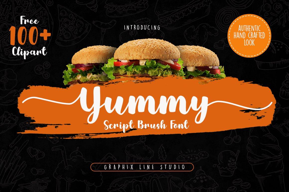Yummy Brush Font example image 1