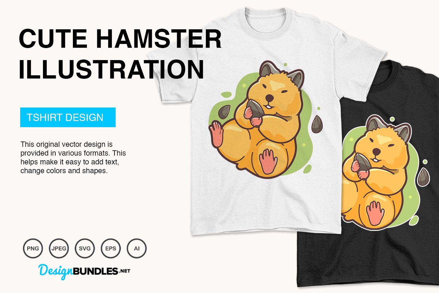 Cute Hamster Vector Illustration example image 4