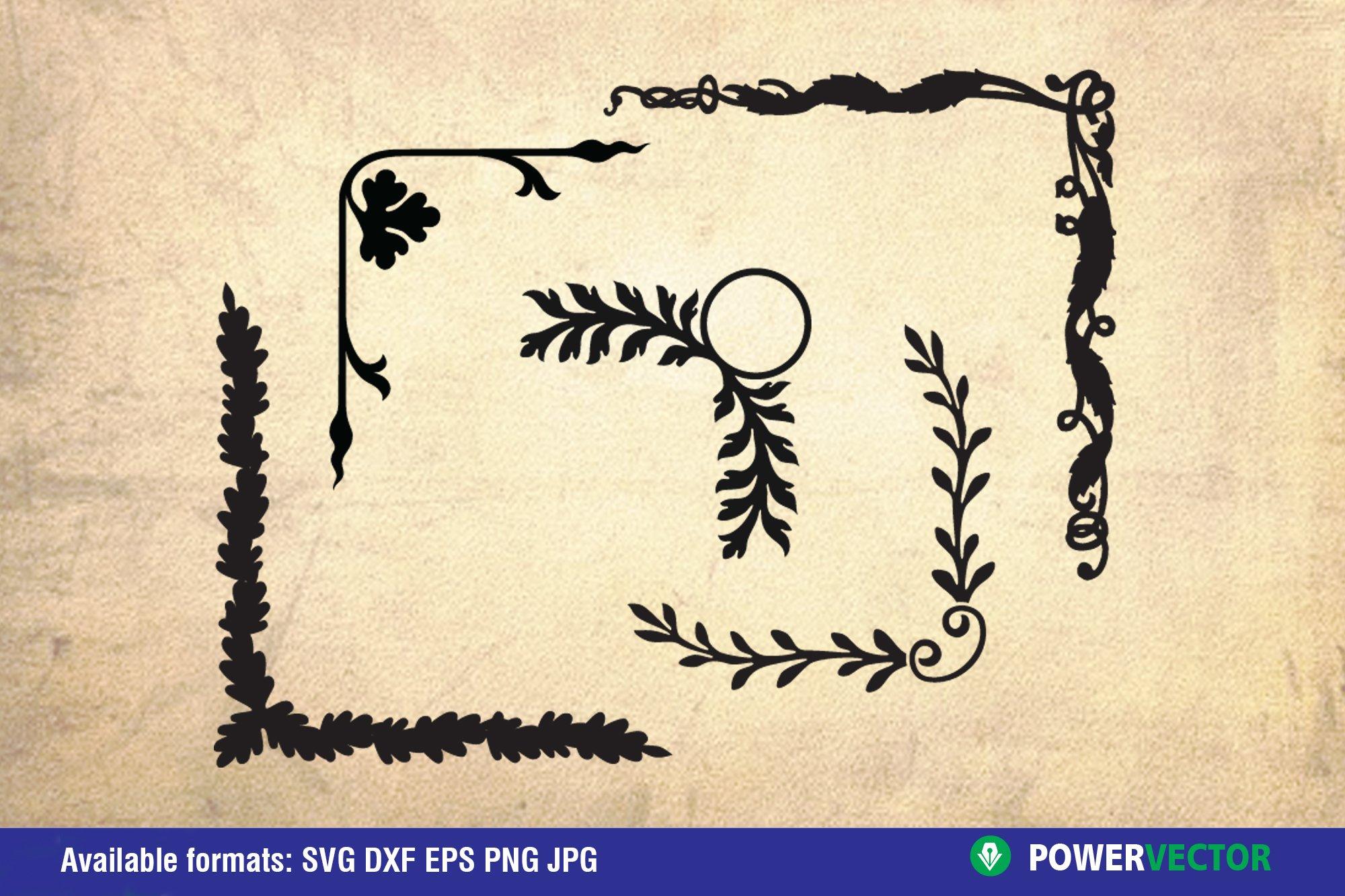 Flowers and Laurel Wreaths SVG Bundle example image 4