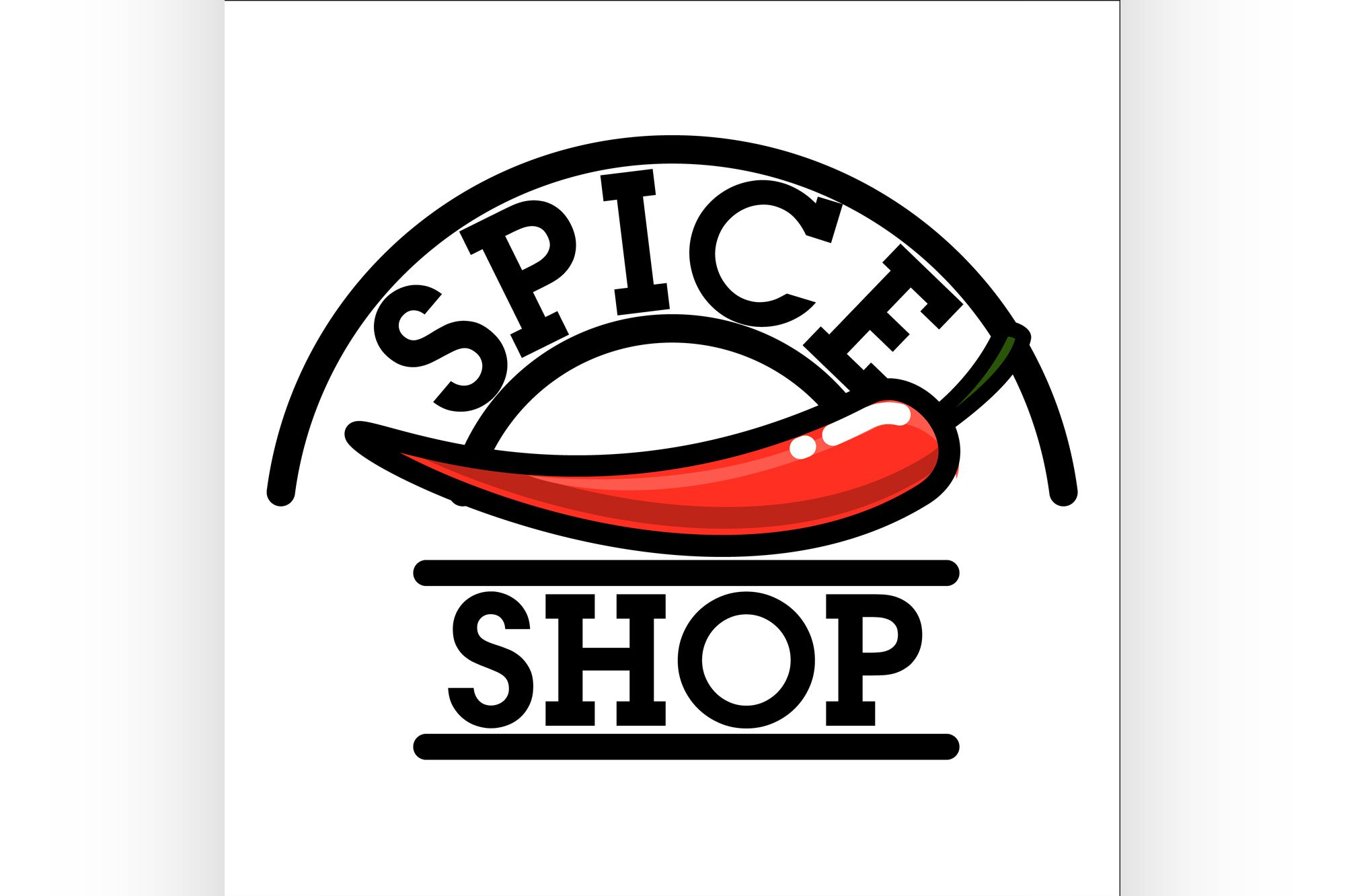 Color vintage spice shop emblem example image 1