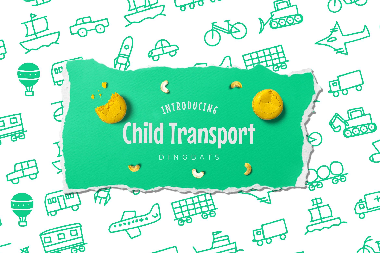 Child Transport Dingbats Font example image 1
