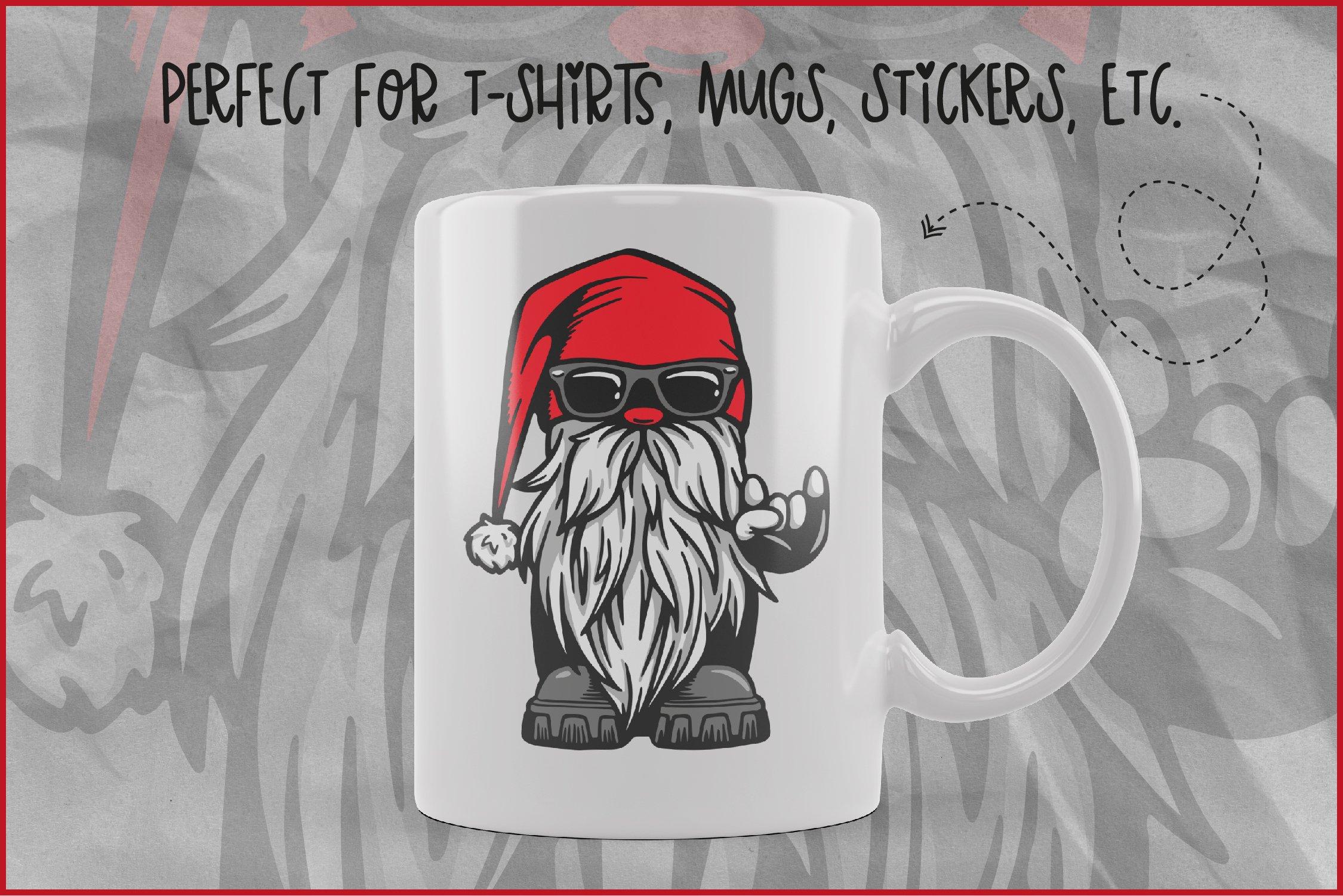 Gnome Svg Cool Biker Gnome Devil S Horn Rock On Hand Sign 991080 Illustrations Design Bundles