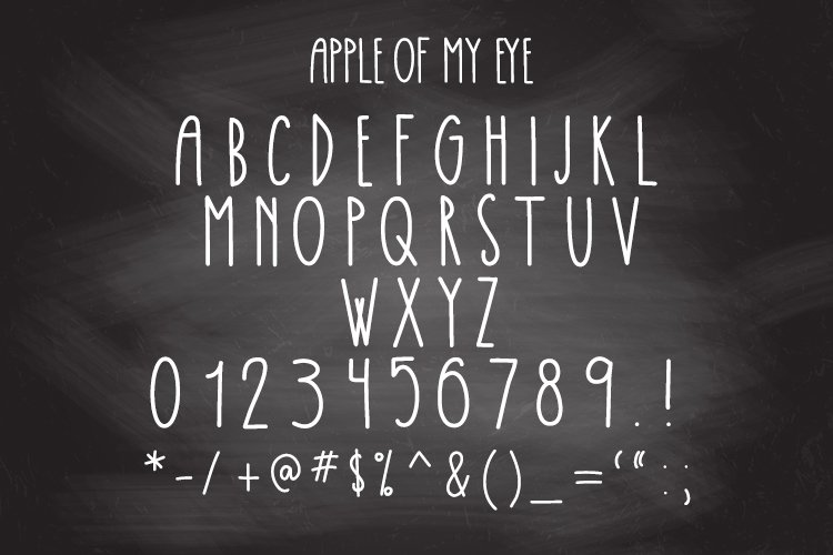 Apple Of My Eye Skinny Tall Font example image 2