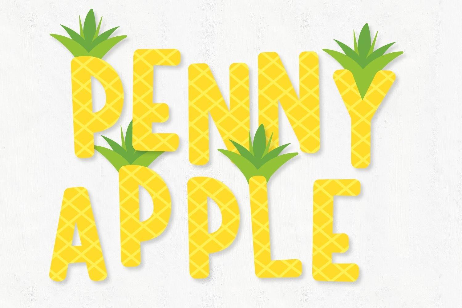 Stand Tall - A Fun Pineapple Layered Font Duo example image 2