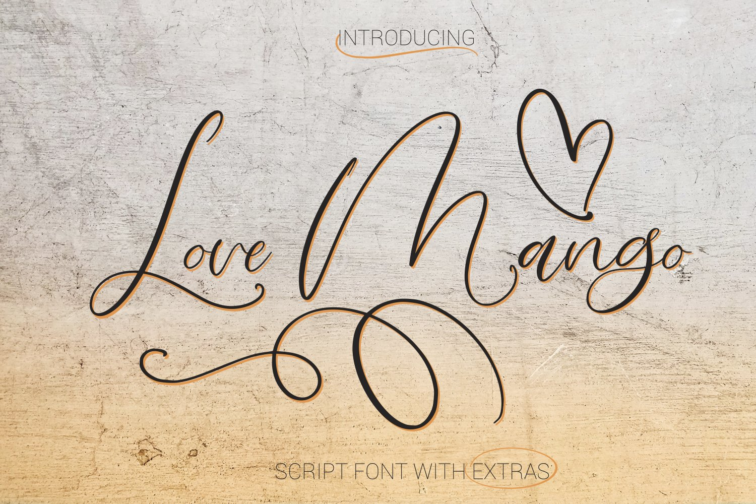 Love Mango. Script font with doodles example image 1