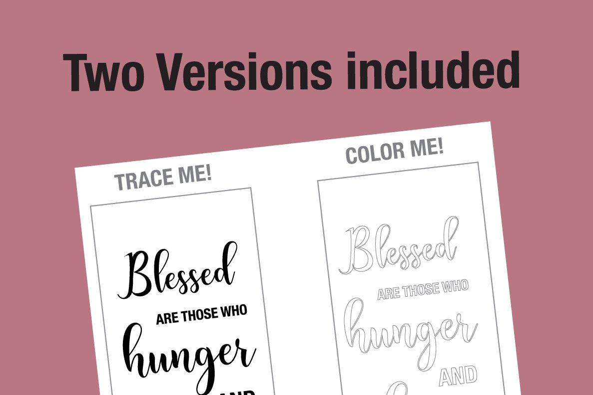 Beatitudes Bible Verse Coloring Page 280552 Printables Design Bundles