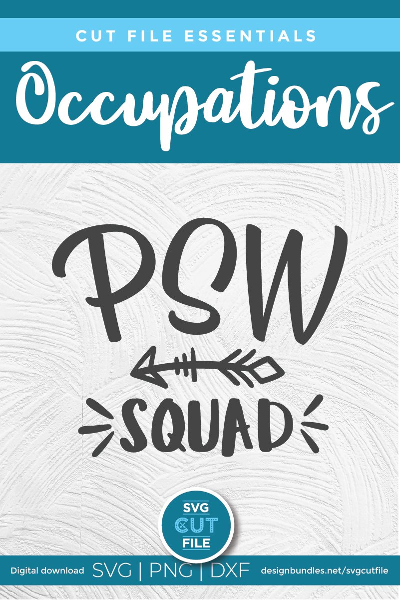 PSW squad with arrow svg-a Personal support worker svg file example image 4