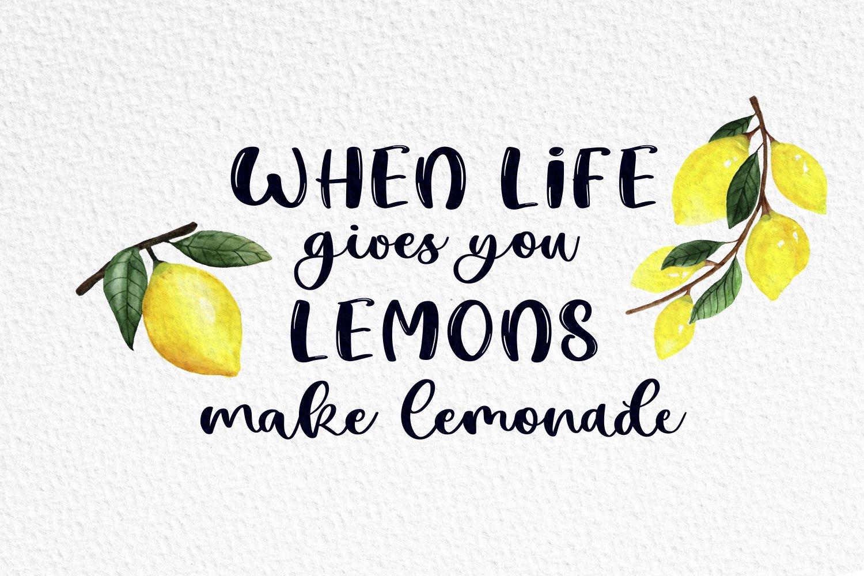 Lemon Summer Font Duo example image 3