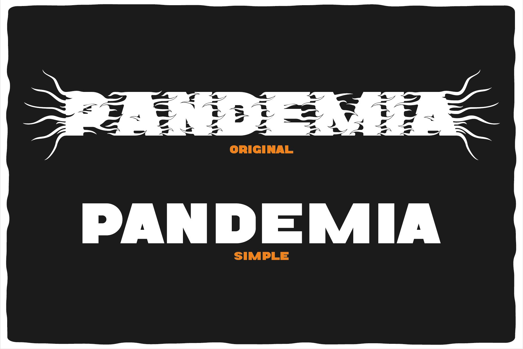 Pandemia typeface example image 3