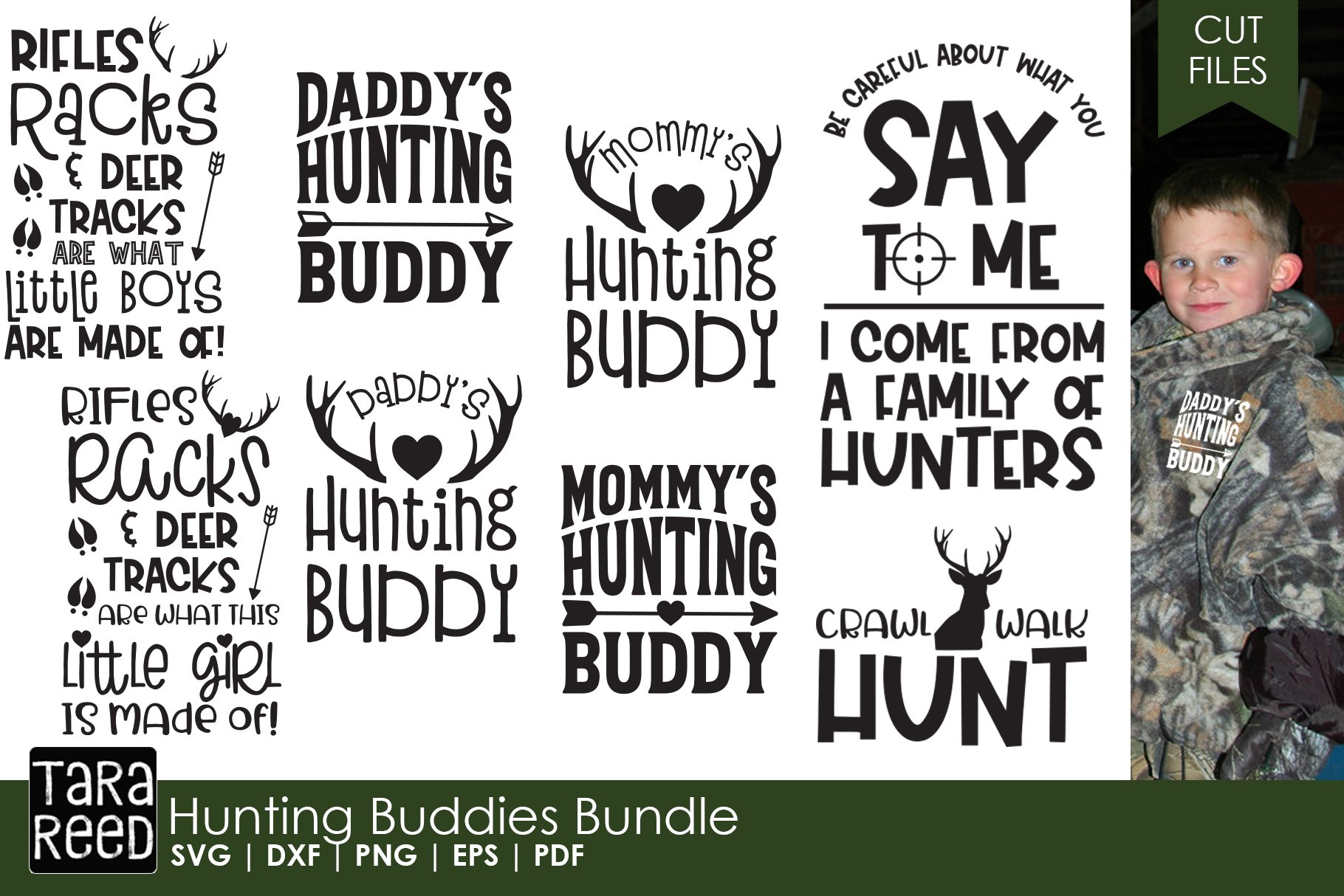 Hunting Buddies Kids Hunting Svg And Cut Files For Crafter 153484 Cut Files Design Bundles