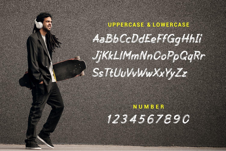Skate Matter - Brush Texture Typeface example image 5