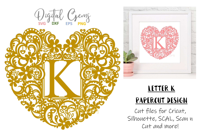 Letter K Paper Cut Design Svg Dxf Eps Png Files 228813 Svgs Design Bundles