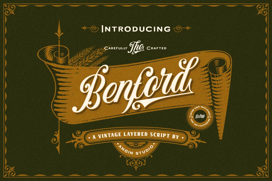 Benford Font Collections with Extras example image 1