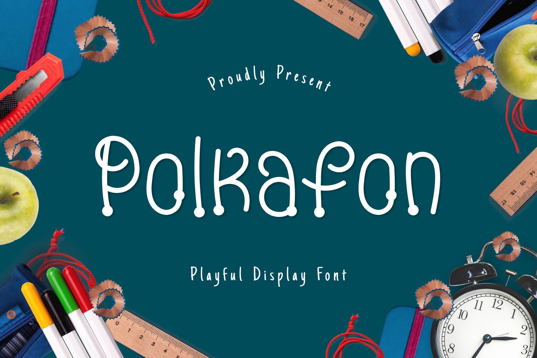 Polkafon Display Font example image 1