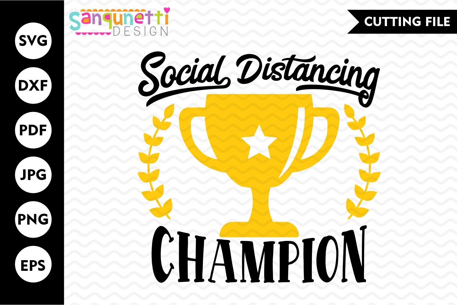 Social Distancing SVG, champion cutting file, Anti-Social example image 1