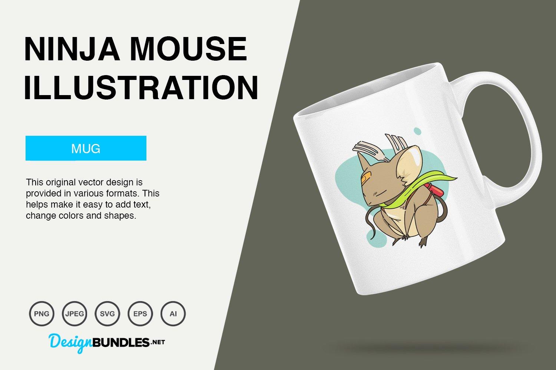 Ninja Mouse Vector Illustration example image 3