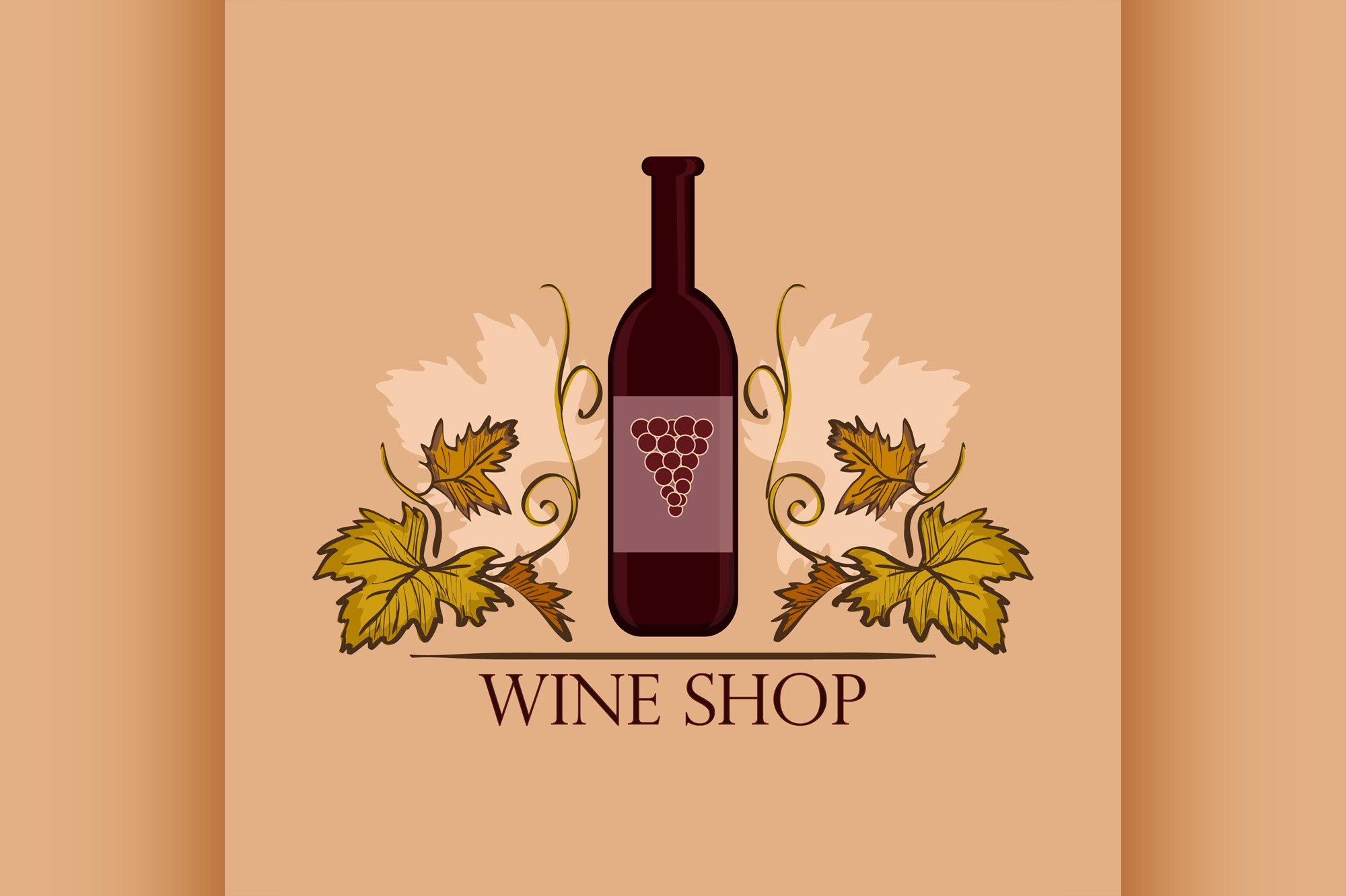 Hand drawn Wine label example image 1