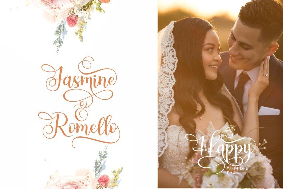 Apenzell Script | free wedding monogram logo example image 3
