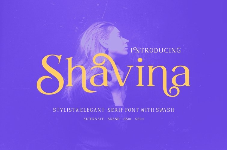 Shavina Serif Font with beauty swash and alternate example image 8