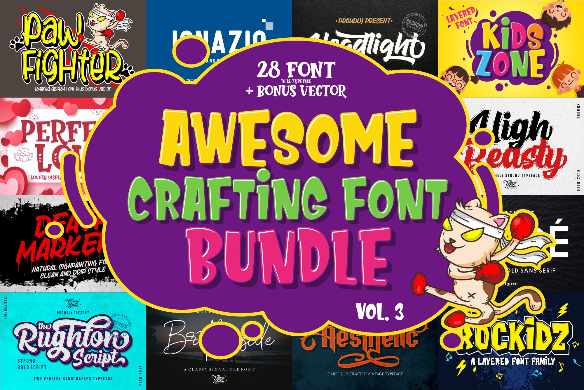 Awesome Crafting Font Bundle Vol. 3 example image 1
