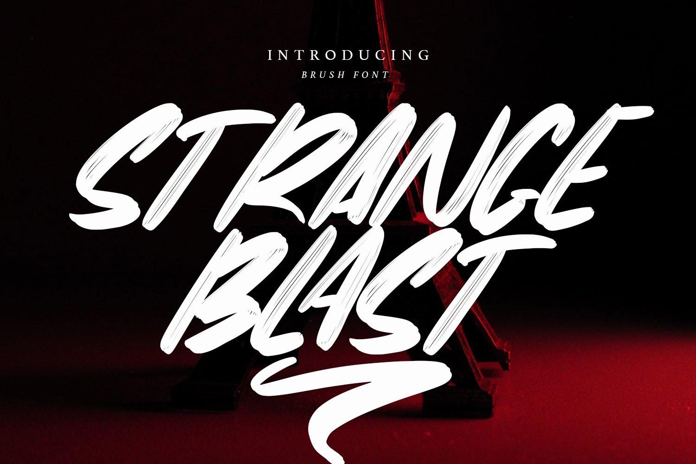 StrangeBlast- Brush Font example image 1
