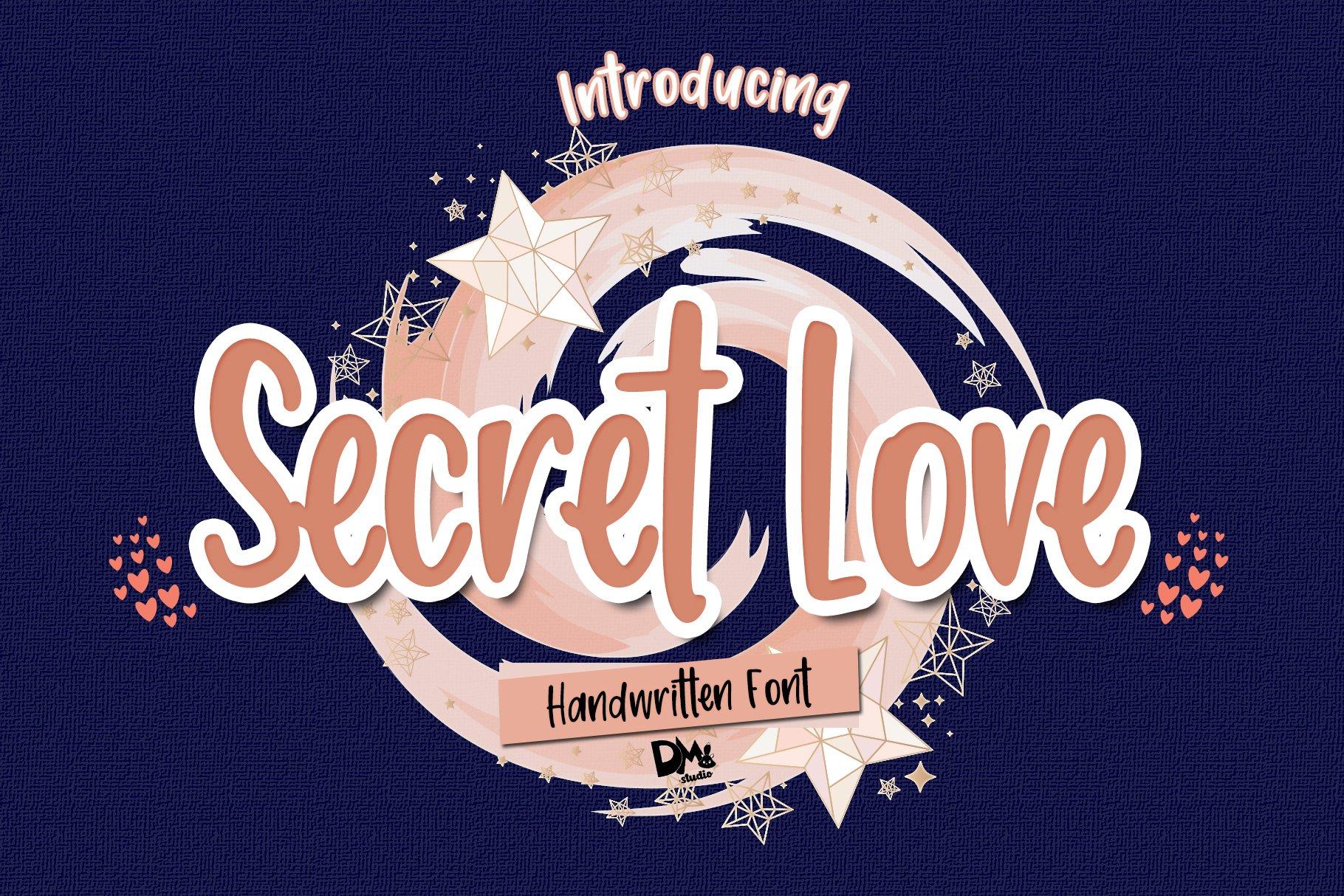 Secret Love - Handwritten Font example image 1