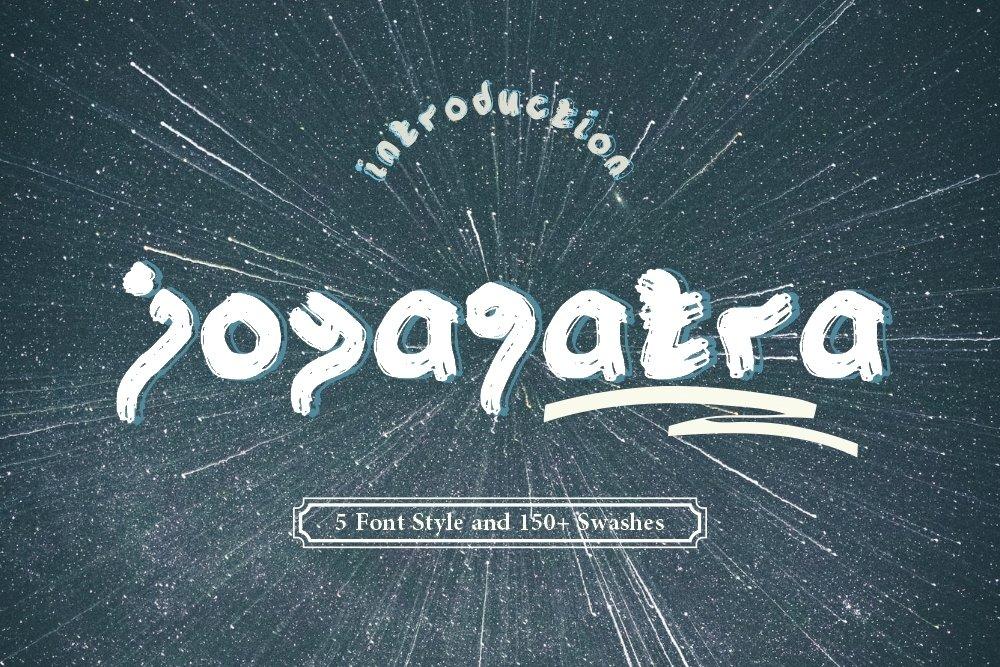 Joyagatra - 5 Font styles and 150 Swashes example image 1
