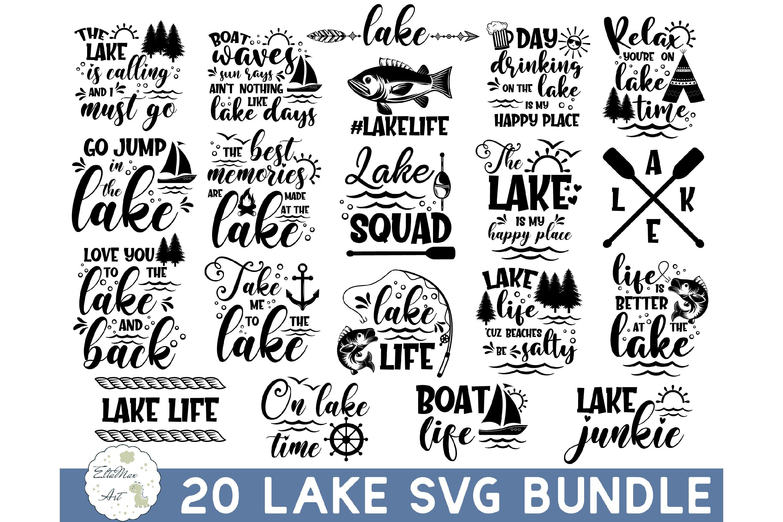 Lake Bundle SVG, Lake Quotes SVG, lake life svg, funny Quote example image 1
