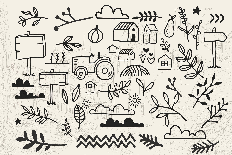 Asur Regular- Cute Doodle Font & Illustrations example image 3