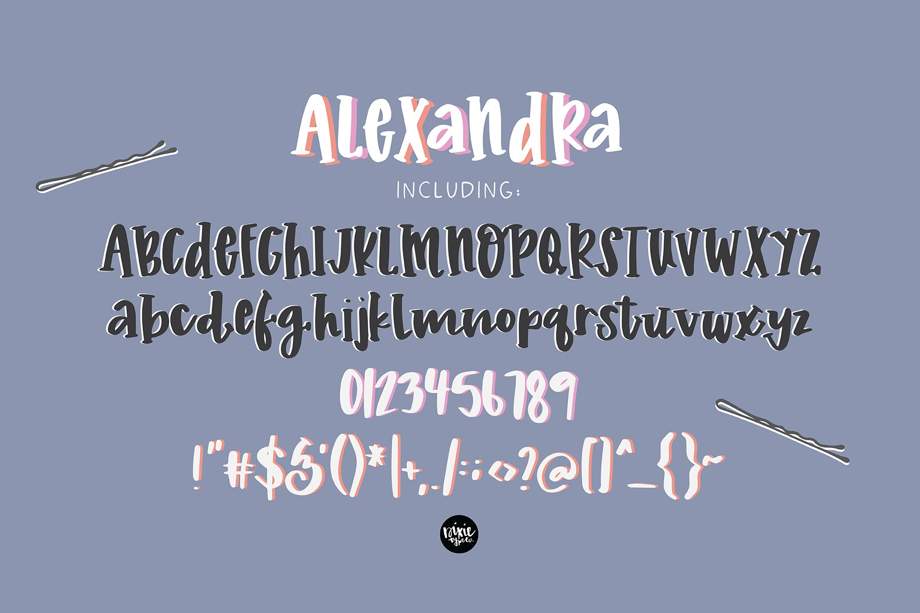 """""""Alexandra"""" a Hand Lettered Serif Font example image 2"""