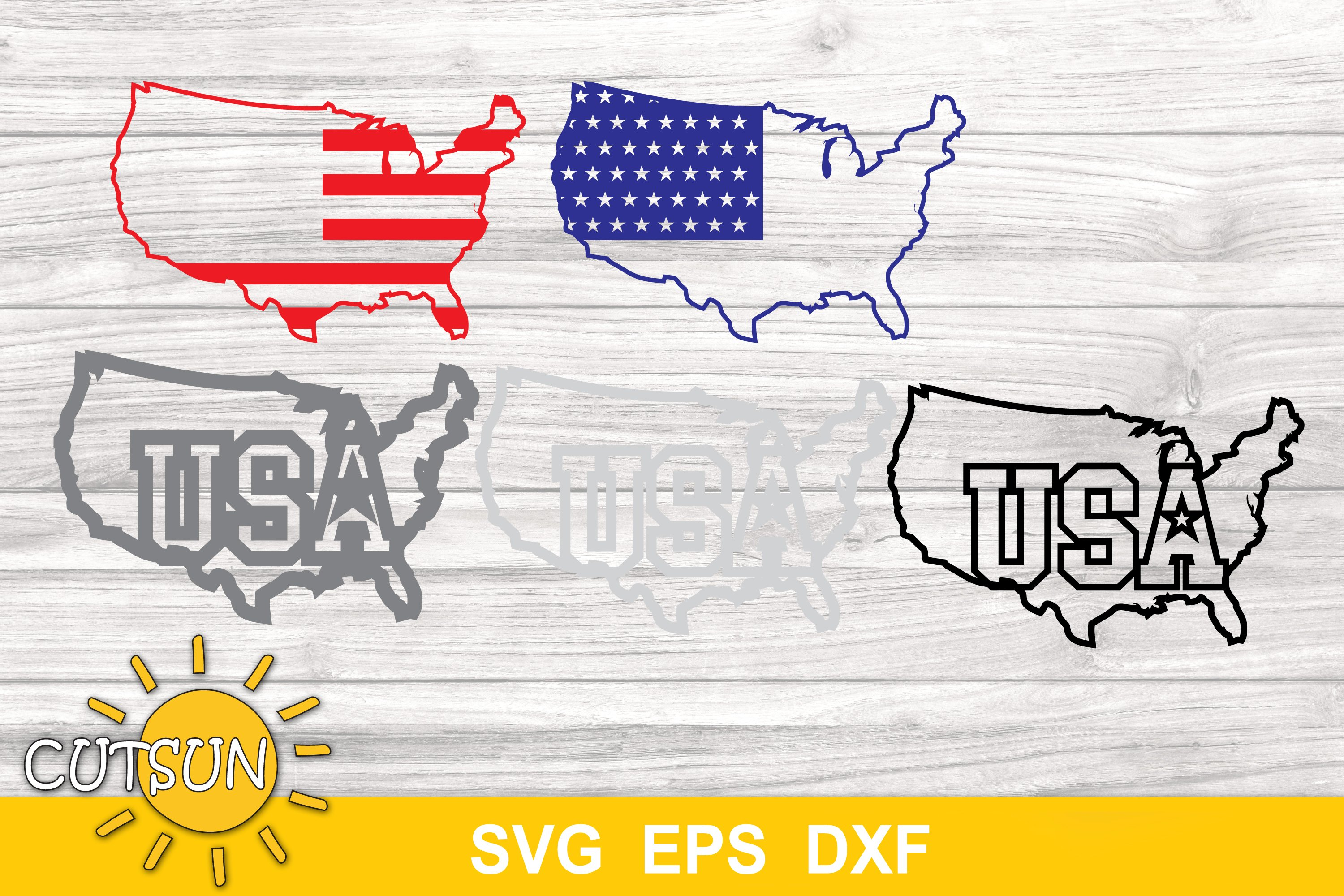 America map with a flag layered design | USA flag in a map example image 3