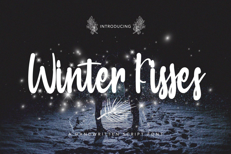 Winter Kisses - Handwritten Script Font example image 1