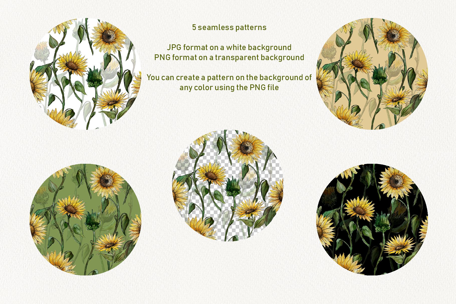 Watercolor Sunflower Clipart Collection example image 3
