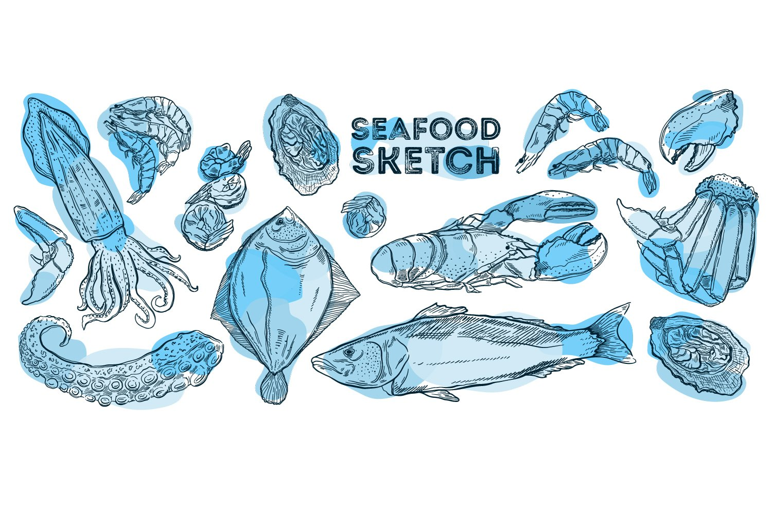 Seafood sketch example image 1