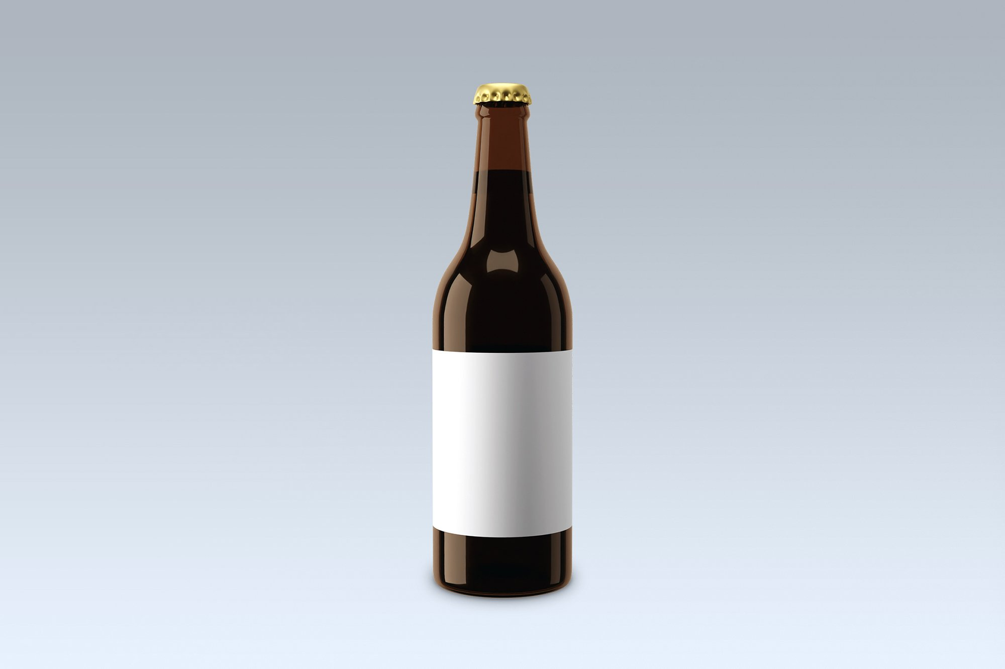 Beer bottle, mock up. example image 3