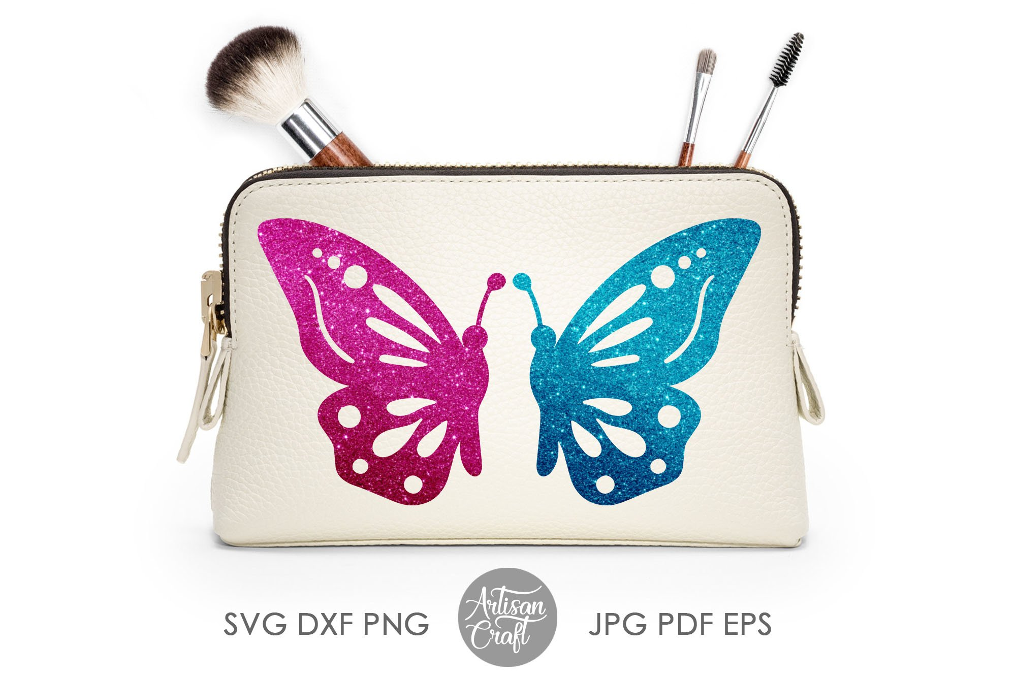 Butterfly clipart, butterfly SVG, cut files, layered svg example image 3
