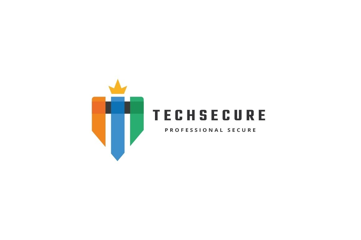 Tech Secure Letter T Logo example image 3