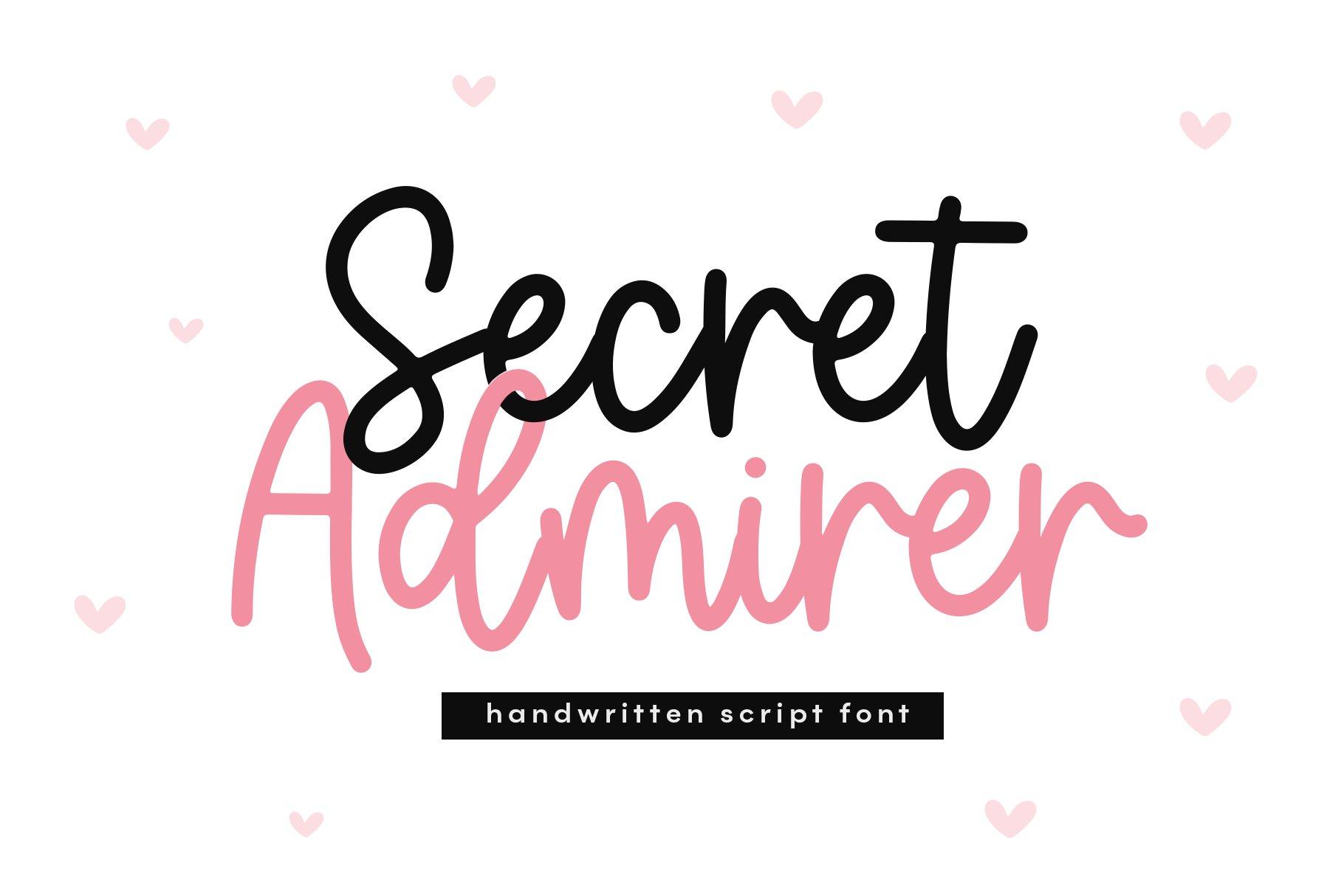 Secret Admirer - Handwritten Script Font example image 1