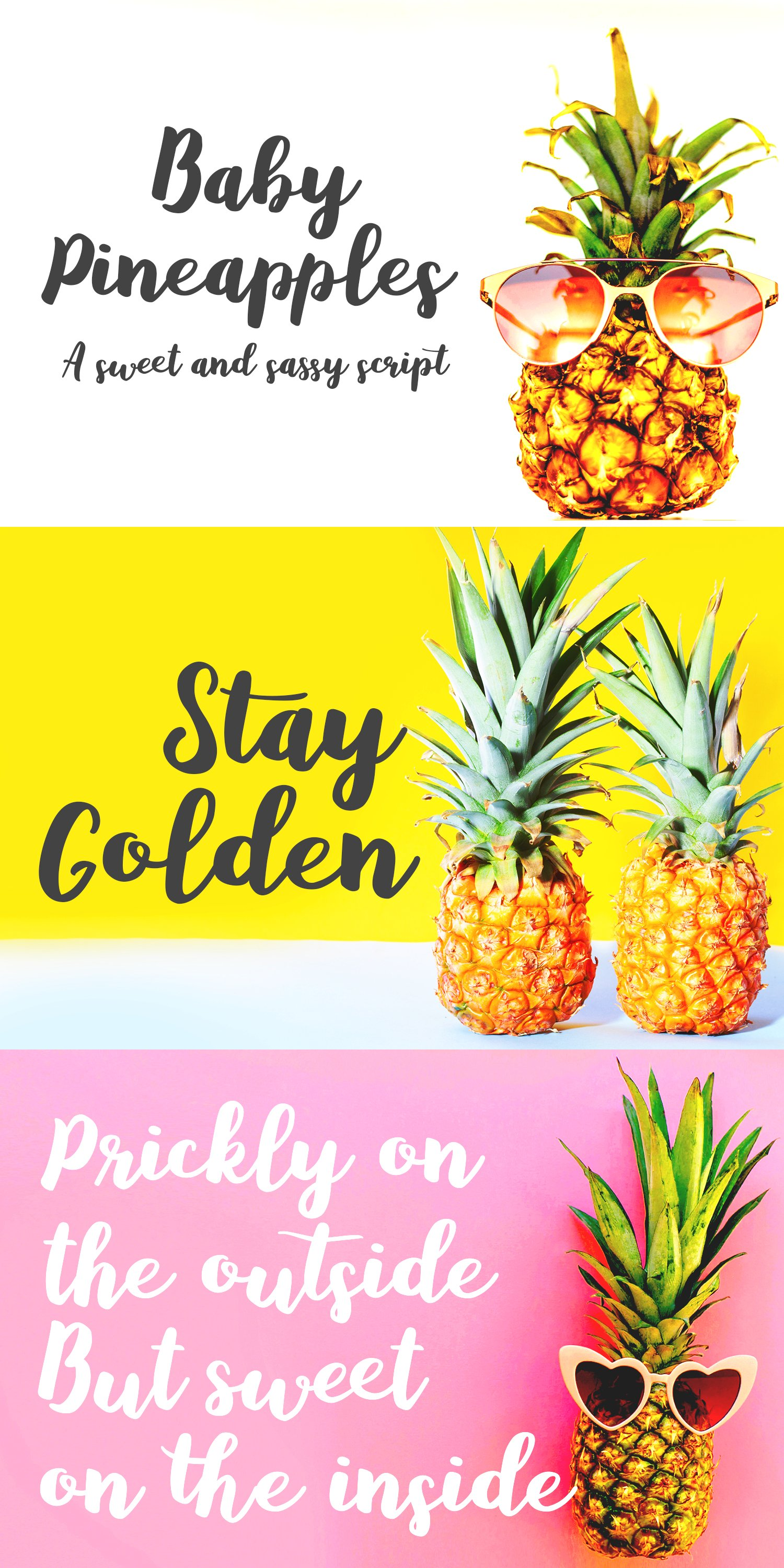 Baby Pineapples - A Sweet and Sassy Script font example image 16