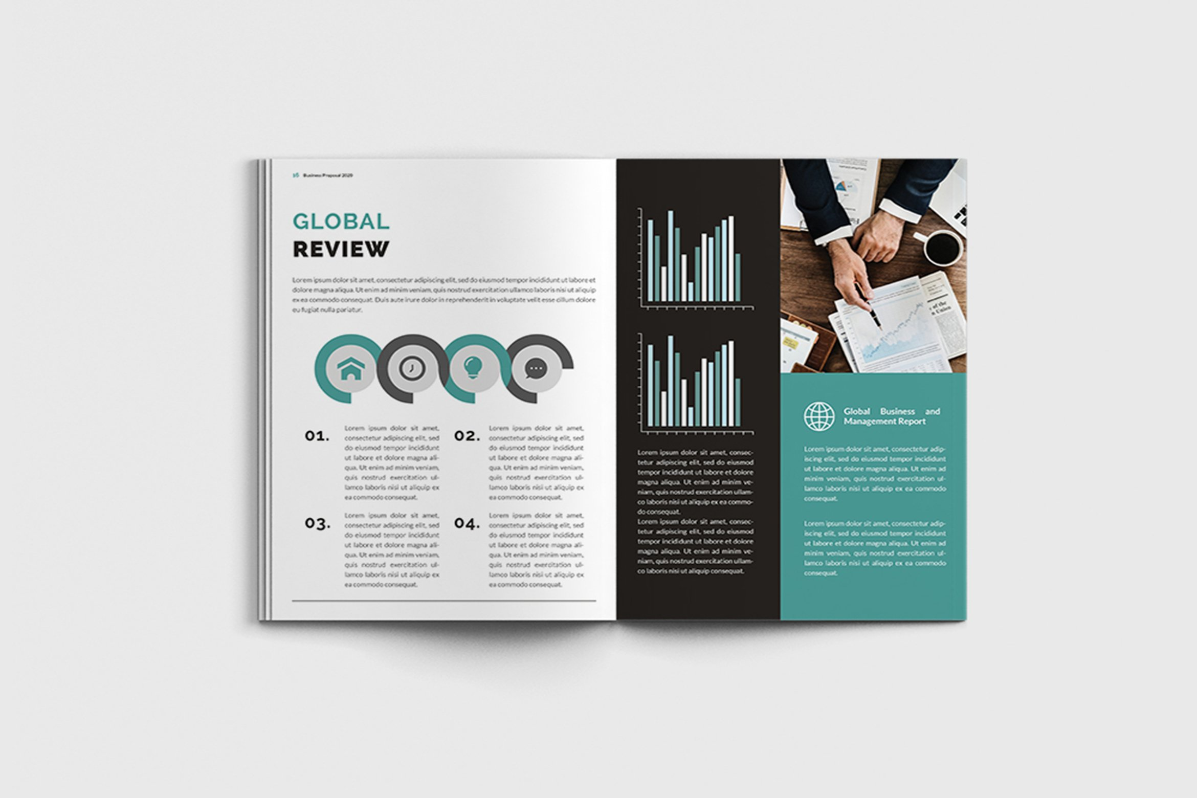 Mager - A4 Management Brochure Template example image 12