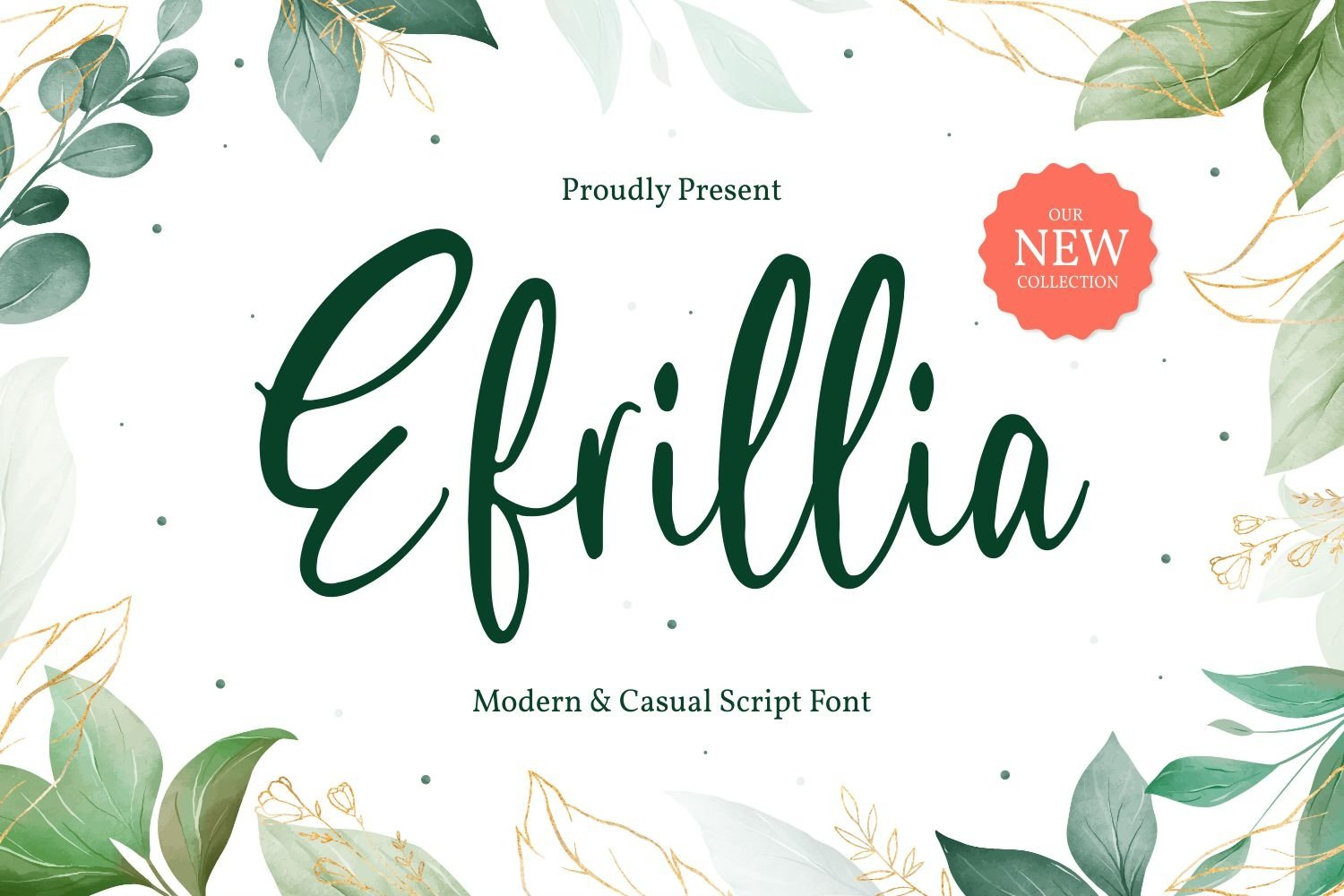 Efrillia - Modern and Casual Script Font example image 1