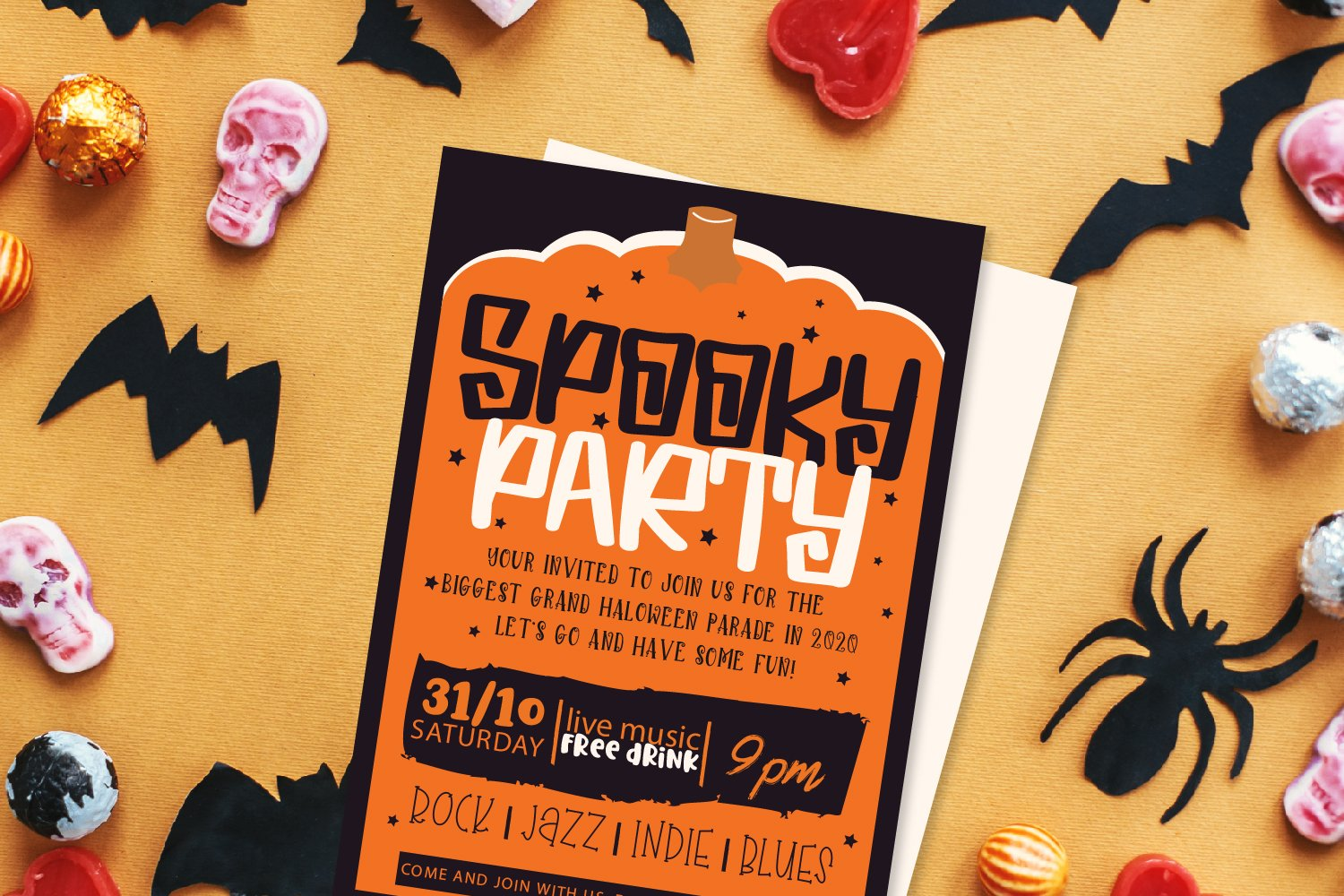 Spooky Dudes - A Scary Silly Halloween Font & Dingbat Duo! example image 3