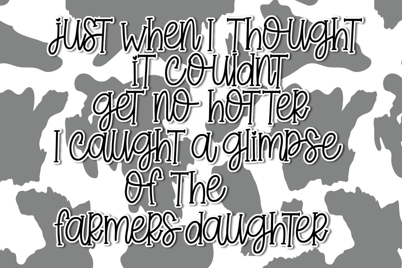 Farmer's Daughter - A Handwritten Font example image 2