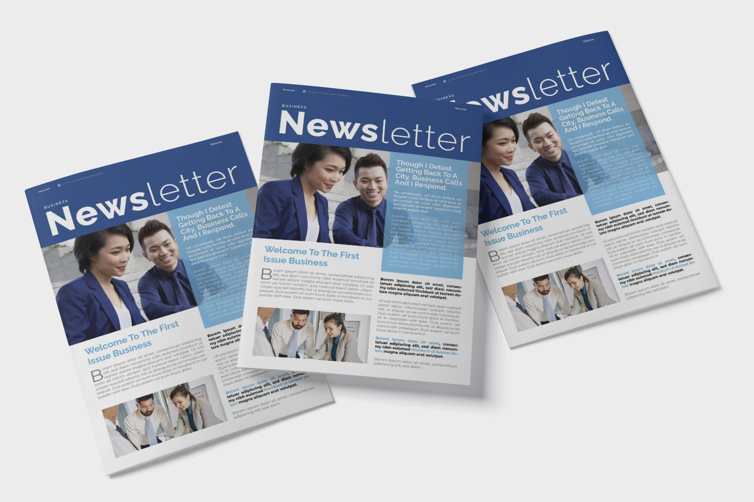 Corporate Issue Newsletter Template example image 4