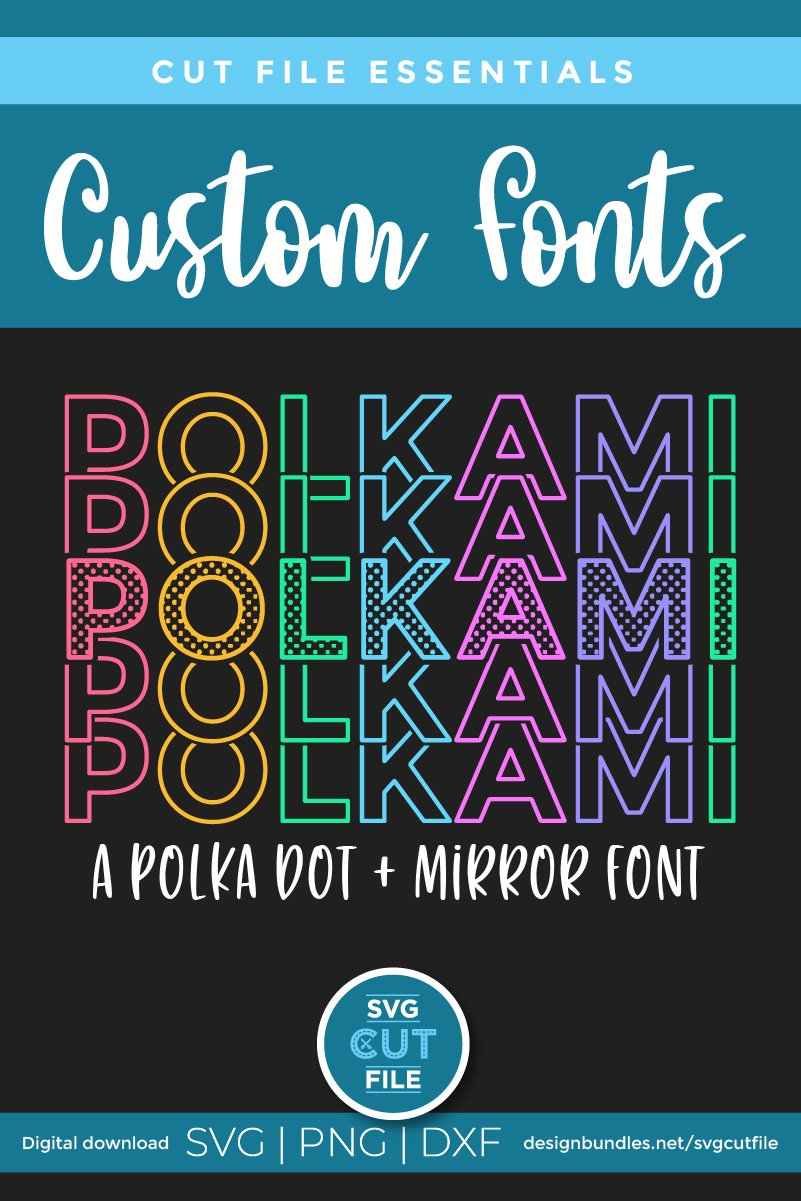 Polkami - a polka dot mirror font with stacked letters OTF example image 6
