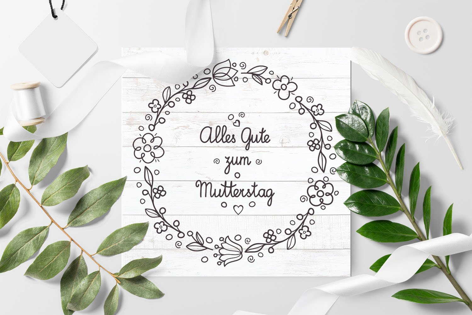 svg Happy mother's day greeting card in Deutschland example image 7