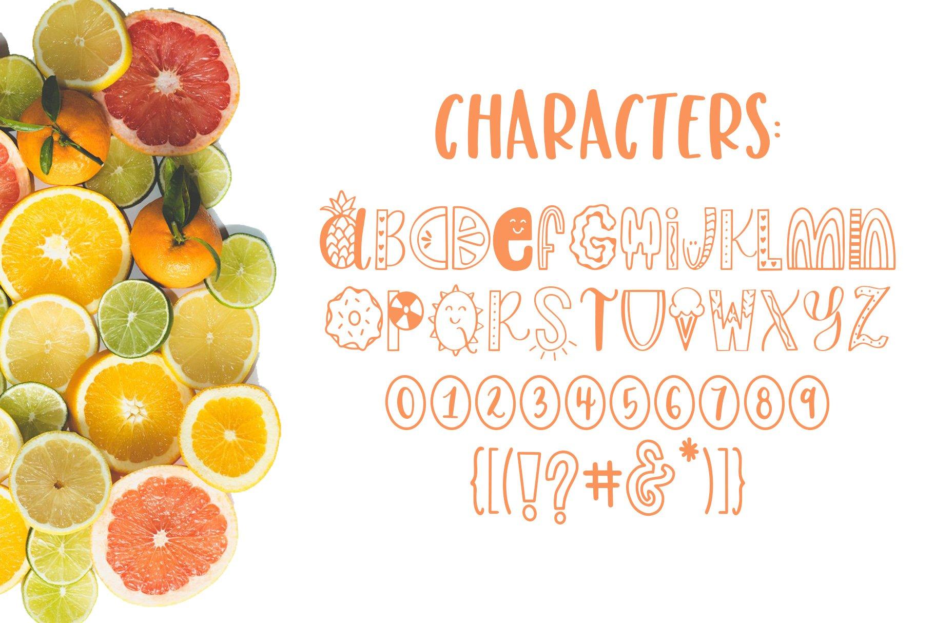 Slice of Summer, Symbols Font example image 5