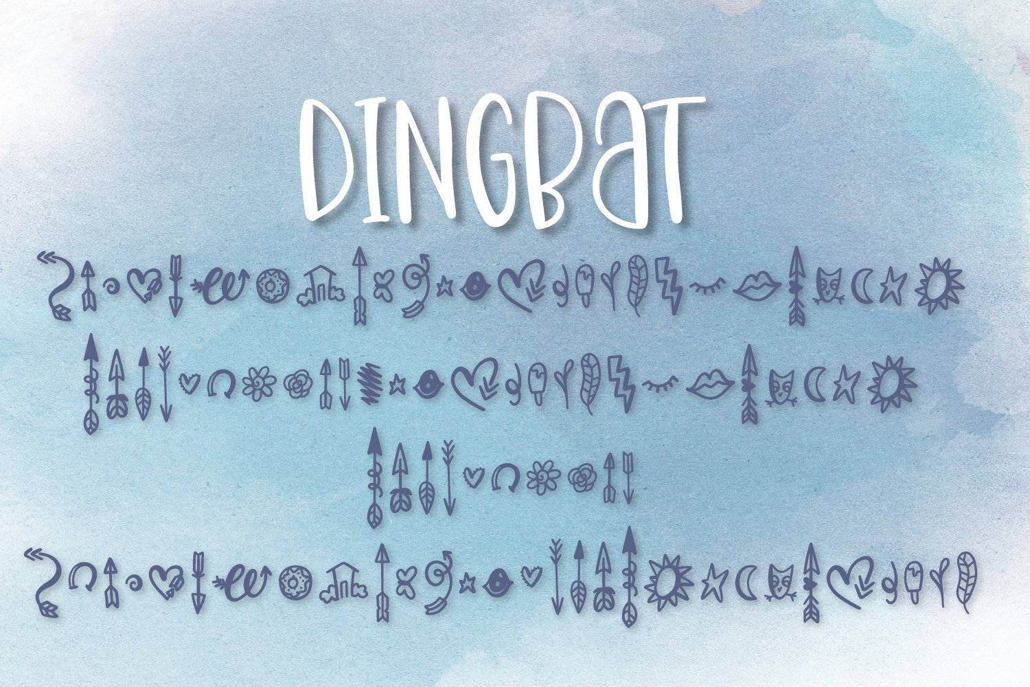 Doppelganger & Dingbat - A Font Duo example image 10