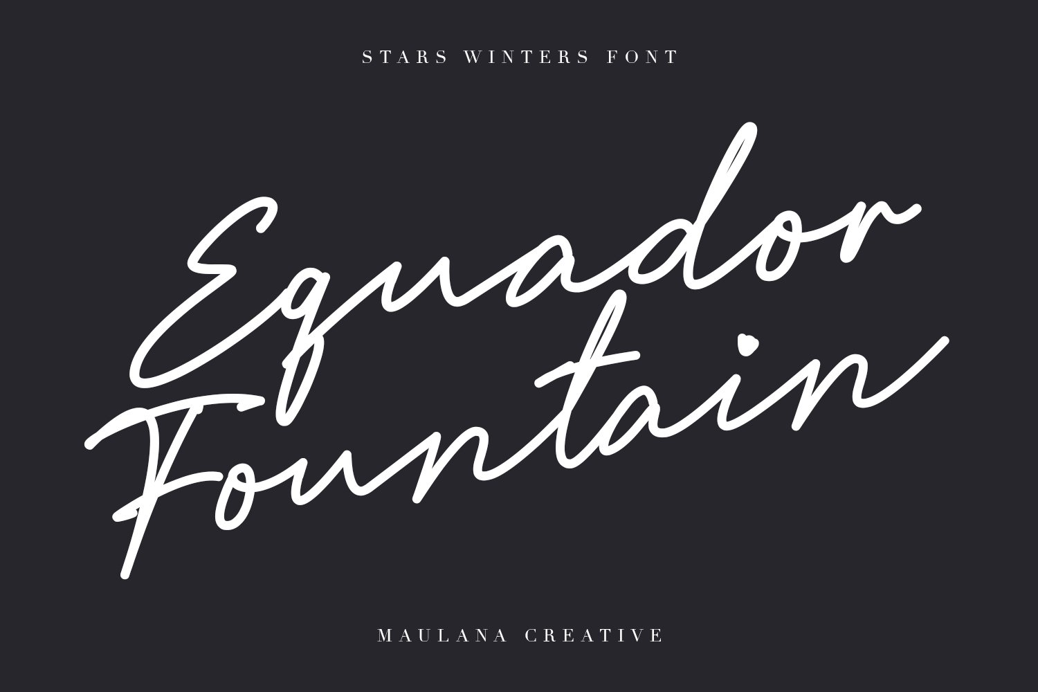 Stars Winters Typeface example image 4