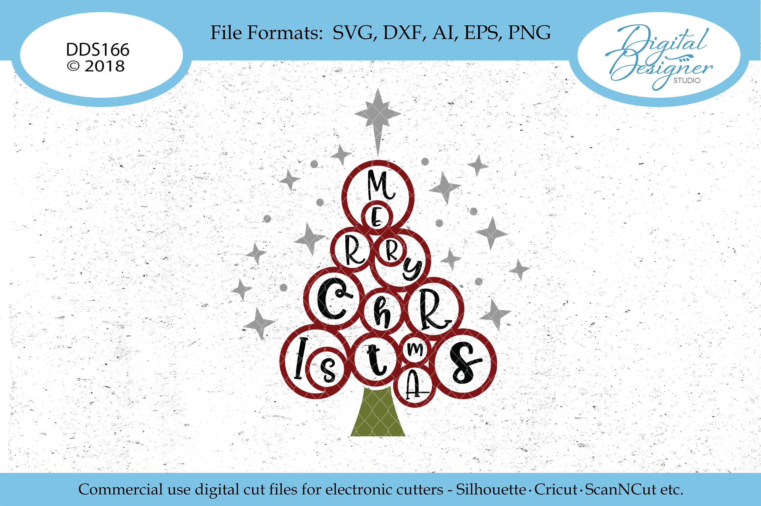 Whimsical Wild Merry Christmas Tree Svg Eps Dxf Png Cut File 119676 Svgs Design Bundles